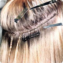 Процесс африканского наращивания волос