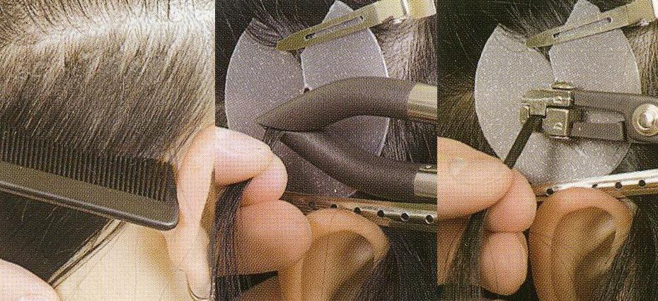 Последовательность итальянского наращивания волос