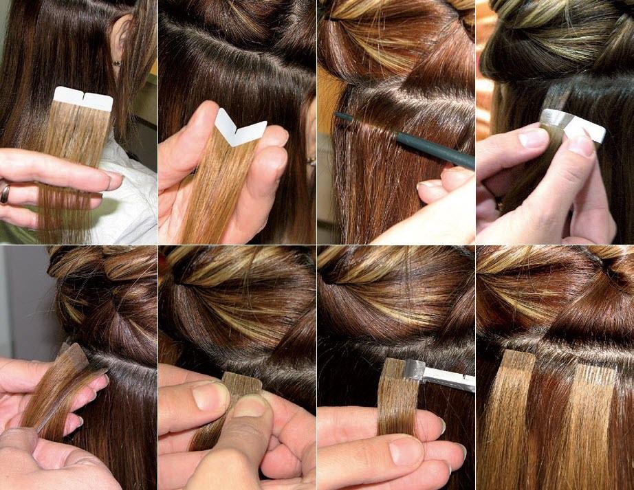 Ленточное наращивания волос в домашних условиях 920